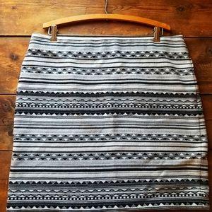 J. Jill aztec mini skirt